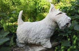 large concrete scottish terrier garden