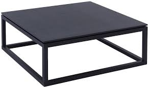 cordoba square coffee table black wenge