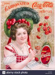 """Drink Coca-Cola 5¢"""" 1902 Coca-Cola advertisement featuring Hilda ..."""