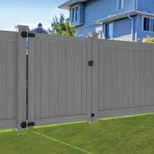 Gray Vinyl Fence Gates At Lowes Com