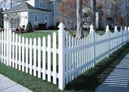 Cape Cod Vinyl Picket Fence Concave Vinyl Picket Fence Backyard Fences Fence Design