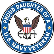 Amazon Com Military Vet Shop Us Navy Veteran Proud Daughter Window Car Bumper Sticker Vinyl Decal 3 8 Automotive