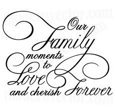our family moments livingroom vinyl wall quote decal