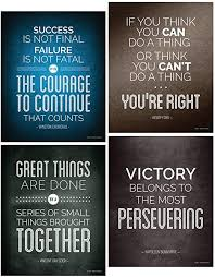 Amazon Com Focus And Zeal Famous Historical Quote Posters For Motivational Wall Art For Home Work Office Teamwork Success School History And Social Studies Classroom Inspirational Decor 8x10 Inch Set Of 4 Ready