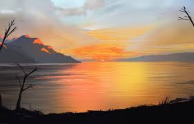 sky landscape nature sunset art