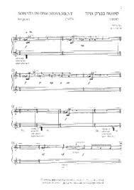 Sonata in One Movement Abel Ehrlich | Scores