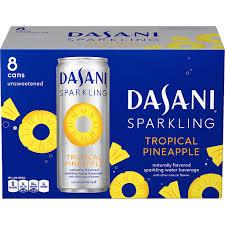 dasani sparkling water 8 pack tropical