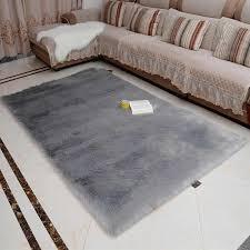 faux fur rug grey soft fluffy rug