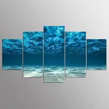 wall art blue ocean bottom view beneath