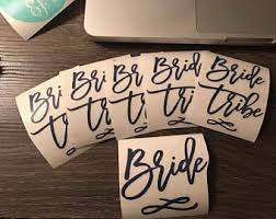 Bride Tribe Decal Etsy