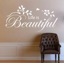Life Is Beautiful Vinyl Word Quote Wall Decal Family Love Inspiration Sticker Stickers Insects Sticker Templatedecal Window Stickers Aliexpress