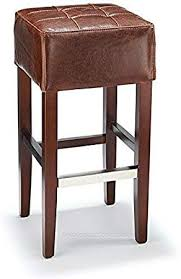 cirocco brown aniline leather bar stool