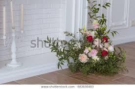 white decorative fireplace flower