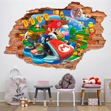 Super Mario Kart 3d Wall Decal Wall Sticker Removable Vinyl Etsy