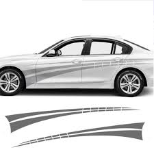 Automobile 2pcs Sports Side Car Stripes Decal Car Graphics Car Stickers For Bmw Racing Stripes Car Styling Da 764643 Car Stickers Aliexpress