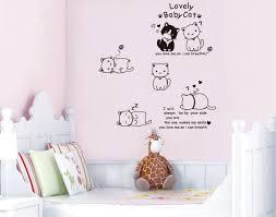Kawaii Cartoon Cats Vinyl Wall Sticker Art Decal Baby Kids Room Cute Wallpaper Adesivos Diy Home Decor Poster Vinilo Pegatinas Poster Bag Poster Adsposters Computer Aliexpress
