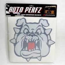 Fresno State Bulldog Perforated Vinyl Window Decal