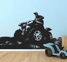 Quad Bike Wall Decal 4 Wheeler Sticker Atv Quad Bike Wall Etsy Atv Quads 4 Wheeler Wall Decals