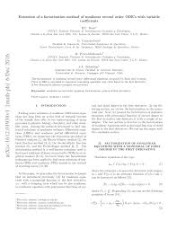 PDF) Extension of a factorization method of nonlinear second order ODEs  with variable coefficients