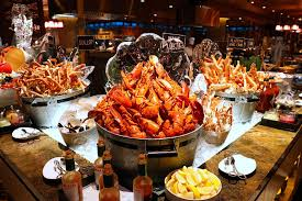 Seafood buffet ...