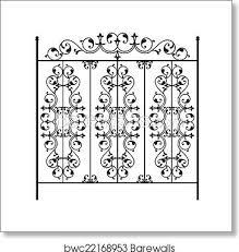 Wrought Iron Gate Door Fence Window Grill Railing Design Art Print Barewalls Posters Prints Bwc22168953