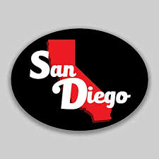 Amazon Com Jb Print San Diego California Red Black Oval Vinyl City College University Vinyl Decal Sticker Car Waterproof Car Decal Bumper Sticker 5 Kitchen Dining