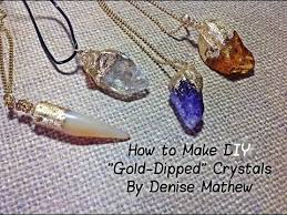 diy faux gold dipped crystal pendants