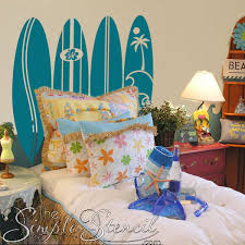 Surf Board Wall Decals Nautical Beach Themed Vinyl Wall Decals