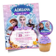 Invitacion Personalizada Frozen 2 Gratis Etiqueta Circular