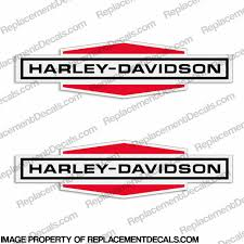 Harley Davidson Racing Gas Tank Decals 1969 Set Of 2