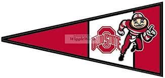 9 Inch Red Pennant Flag Osu Ohio State University Buckeyes Removable Wall Decal Sticker Art Ncaa Home Decor 9 Inches Wide By 4 Inches Tall Wantitall