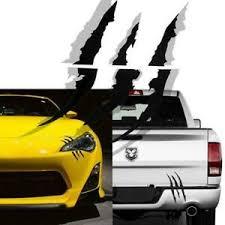 1x Black Scratch Claw Monster Halloween Car Vinyl Decal Eye Catching Sticker Ebay