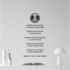 Star Wars Wall Decal Jedi Code Vinyl Sticker Quote Decor Movie Poster Art 262hor