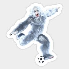 Yeti Soccer Shots Soccer Sticker Teepublic