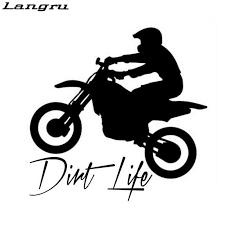 Langru Car Window Sticker Outdoor Decal Dirt Bike Dirt Life Accessories Jdm Car Stickers Aliexpress