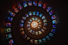 stained glass spiral circle free