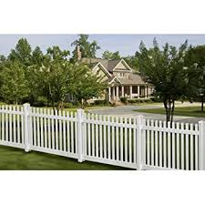 Amazon Com 4 Ft X 8 Ft Glendale Spaced Picket Vinyl Fence Panel With Pointed Pickets Garden Outdoor