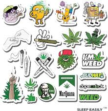 Amazon Com Weed Stickers For Adults 20pcs Supreme Sticker Packs For Adults 100 Vinyl Marijuana Stickers Stoner Sticker Bomb Hippie Trippie Stickers Pack Kitchen Dining