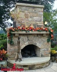 outside stone fireplace ideas outdoor