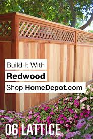 Mendocino Forest Products 1 3 8 In X 2 Ft X 8 Ft Framed Redwood Garden Lattice 01261 The Home Depot Backyard Redwood Fence Garden Structures