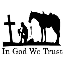 In God We Trust Cowboy Vinyl Decal Sticker Country Boy Customs Store