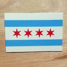 Chicago Flag Sticker Rep Chi