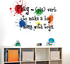 Childrens Wall Decal Play Definition Playroom Vinyl Wall Art Childrens Playroom Decor 16 00 V Playroom Wall Decals Childrens Wall Decals Playroom Decor