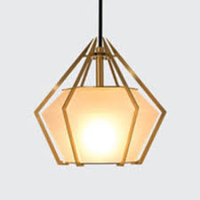 milky glass diamond pendant light