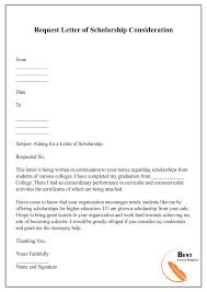 request letter template for scholarship