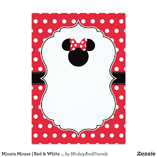 Create Your Own Invitation Zazzle Com Convite Minnie Vermelha