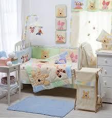 hiding pooh baby crib bedding cot