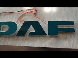 daf led logo für xf euro 6 und new xf