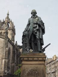 Statue Of Scottish Economist Philosopher And Writer Adam Smith ...