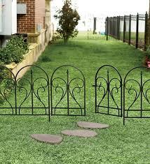 movable garden fence